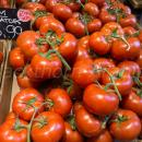 Tomatoes at point of sale in a market