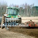 Ploughing and pressing on breckland sand in spring