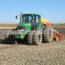 Drilling winter wheat with a power harrow , drill combination